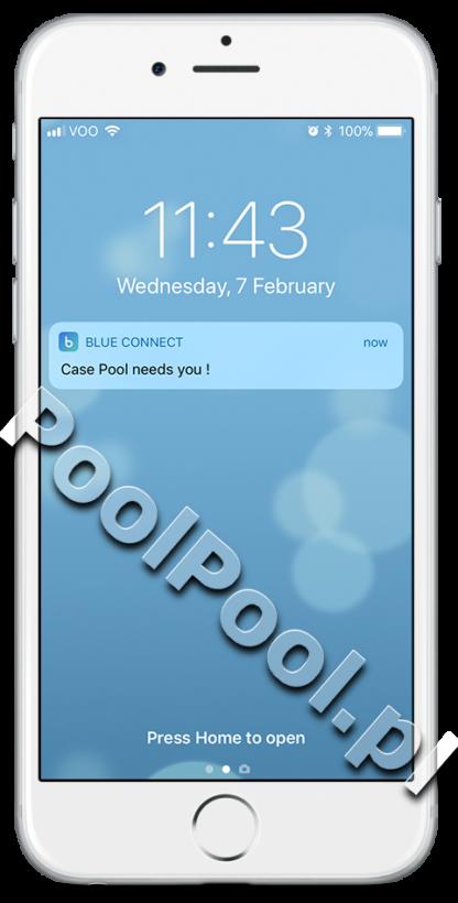 Fluidra Blue Connect powiadomienia push