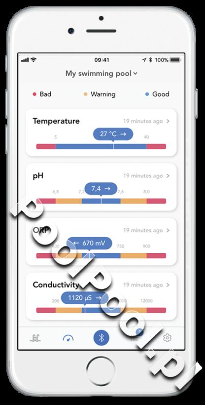 Fluidra Blue Connect aplikacja temperatura