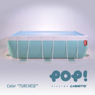 Turkusowy basen nazieny Laghetto POP